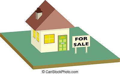 売り物のハウス, 庭