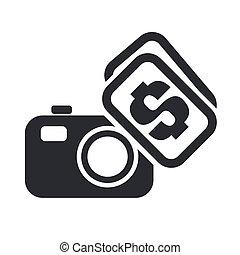 売る, 概念, 写真, イラスト, ベクトル, アイコン