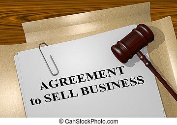 売る, 概念, 合意, ビジネス