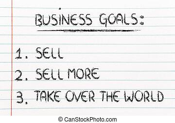 売る, 面白い, 売る, ビジネス, goals:, 上に, リスト, wor, 取得, もっと