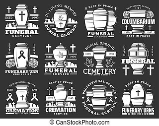 壷, 火葬, サービス, 墓地, 葬儀の, 葬式