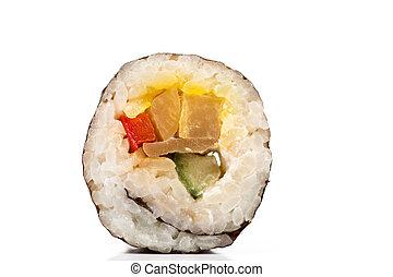 壽司, 彙整, 被隔离, 片斷, 背景, 白色