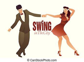 変動, ∥あるいは∥, 岩, ホツプ, ダンス, 回転しなさい, 恋人, lindy, 若い