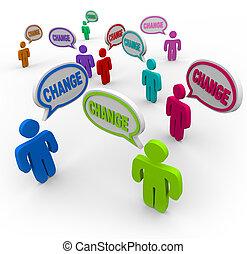 変化しなさい, ある, 伝染性, -, 人々, 変化する, 成功するため, 中に, 生活