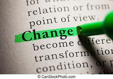 変化しなさい