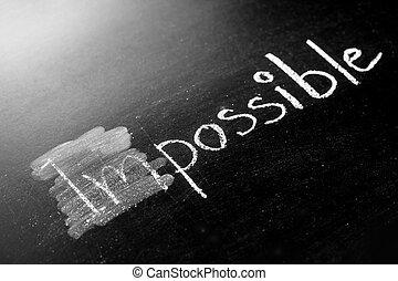 変化する, 可能, 不可能