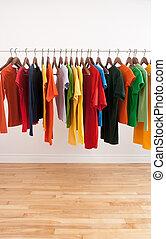 変化, の, 多彩, 衣服, 上に, a, 棒