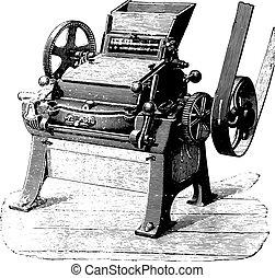 変換器, engraving., 型, 磁器製品, シリンダー