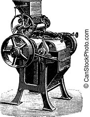 変換器, wegmann, engraving., 型, 磁器製品, シリンダー