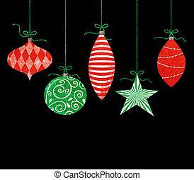 変, クリスマス装飾, 掛かること