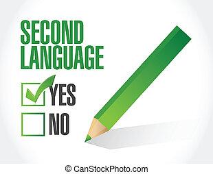复選標記, 第二, 語言