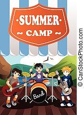 夏の 子供, フライヤ, バンド, キャンプ
