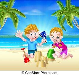 夏の 子供, 浜の 休暇