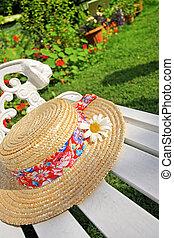夏の 帽子, 庭, peacuful