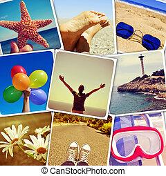 夏天, 圖片, 射擊, 所作, myself, 模擬, a, 牆, ......的, 快照