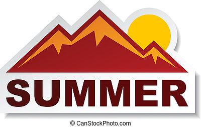夏天, 屠夫, 矢量, 山