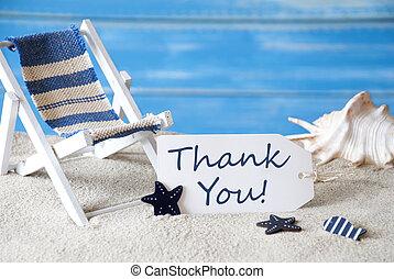 夏天, 感謝, 甲板, 標簽, 椅子, 你