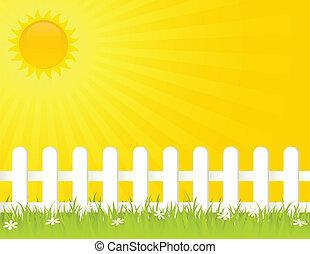 夏天, 柵欄