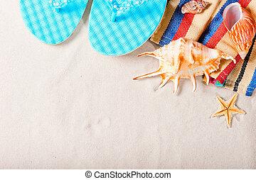 夏天, 海, 背景, 為, 記錄