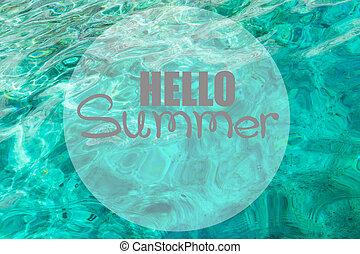 夏天, 海, 背景