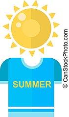 夏天, 矢量, illustration., 時間