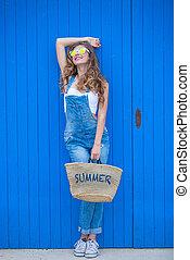 夏天, 青少年的 女孩