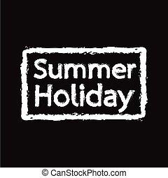 夏季休暇, イラスト, デザイン