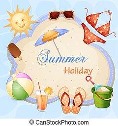 夏季休暇, イラスト