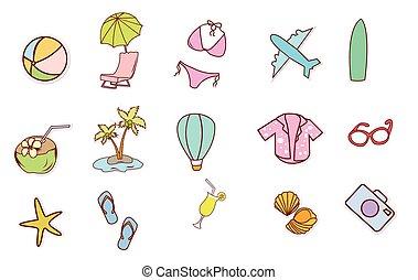 夏季休暇, 浜, オブジェクト