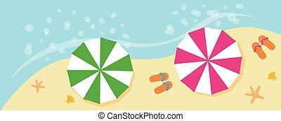 夏季休暇, 浜