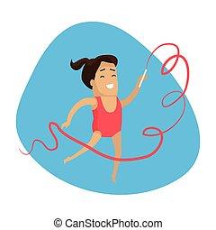 夏, カラフルである, banner., ゲーム, 芸術的な体操