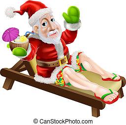 夏, クリスマス, santa