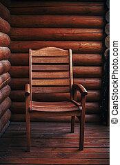 夏, コテッジ, moment., 田園, 木製である, リラックスしなさい, vacation., 山。, 椅子, 大気, 森林, woods., 光景, バルコニー, キャビン, 国, 時間, ポーチ