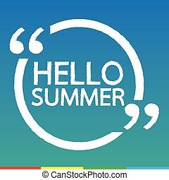 夏, デザイン, こんにちは, イラスト