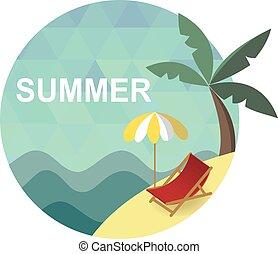 夏, ビーチ休日