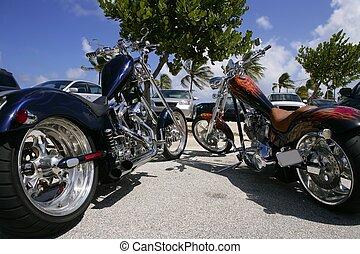 夏, フロリダ, 日当たりが良い, 自転車, 駐車, 浜