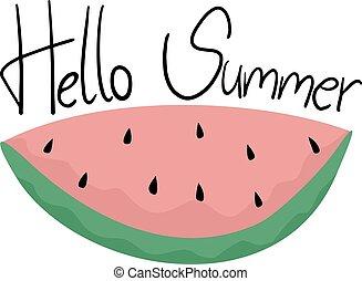 夏, メッセージ, こんにちは