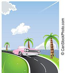 夏, 乗車, 海岸線