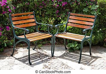 夏, 公園のベンチ, 2