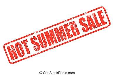 夏, 切手, テキスト, セール, 熱い赤