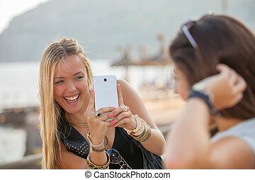 夏, 十代の若者たち, 休暇, 写真