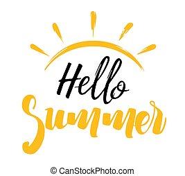 夏, 太陽, こんにちは, 碑文