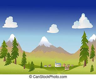 夏, 山の村