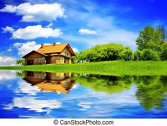 夏, 新しい家
