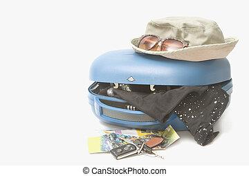 夏, 旅行, スーツケース