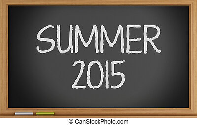 夏, 書かれた, blackboard.