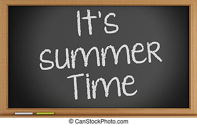 夏, 書かれた, it´s, blackboard., 時間