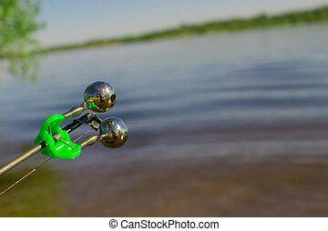 夏, 棒, 釣り