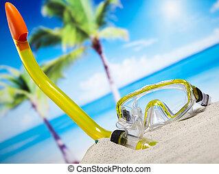 夏, 概念, 調子, カラフルである, 休暇, 自然