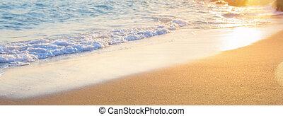 夏, 波, 浜, 抽象的, 背景, 海, ぼんやりさせられた